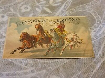 Victorian trade card Venable's tobacco advertising 1880s vintage old