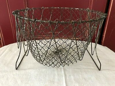 Vintage Collapsible Wire Mesh Egg Basket