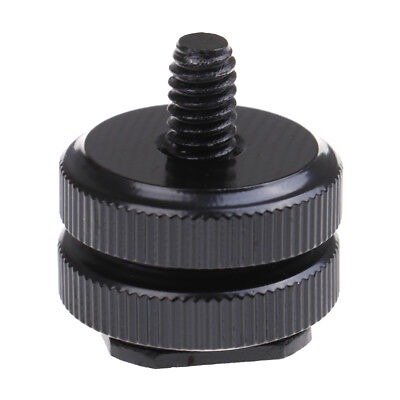1/4 inch dual nut tripod mount screw to flash camera hot shoe adapter LY