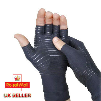 COPPER ANTI ARTHRITIS Gloves Compression Therapy Hands Support Wrist Pain Relief