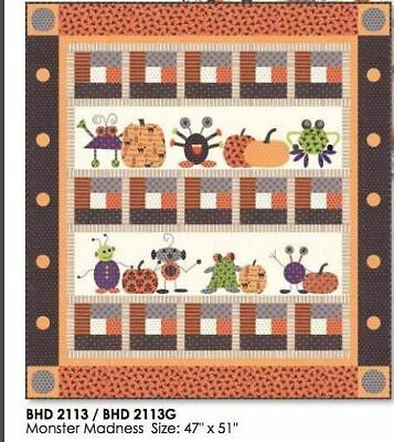 Quilt Pattern MONSTER MADNESS FOR HALLOWEEN Moda BUNNY HILL  Spooky Delights