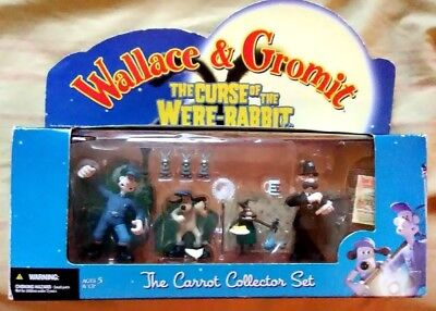 McFarlane Wallace & Gromit Curse Of The Were-Rabbit Carrot Collector Figure Set