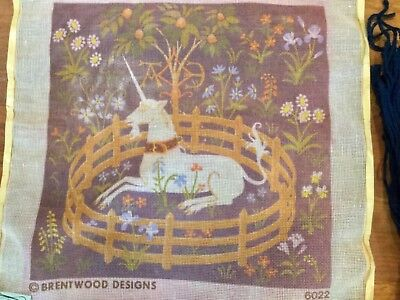 Brentwood Designs Unicorn Needlepoint Kit