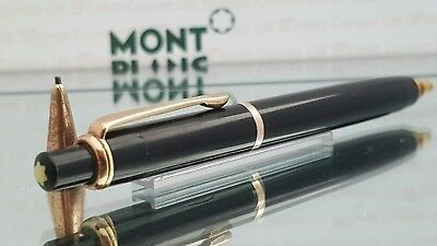 Mont Blanc Mechanical Pencil 372 Model Black Gold Trims Functional Good Con #57