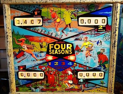 "1968 Gottlieb ""Four Seasons"" 4 Player Pinball Machine - Just Serviced"