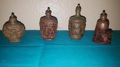 *VTG* Lot of 4 Reproduction Snuff/Perfume Bottles - Chinese