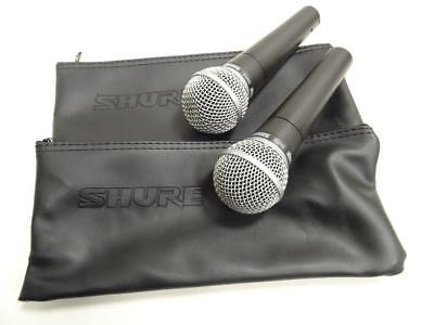 Shure Sm58 Dynamic Vocal Microphones Pair With Cases