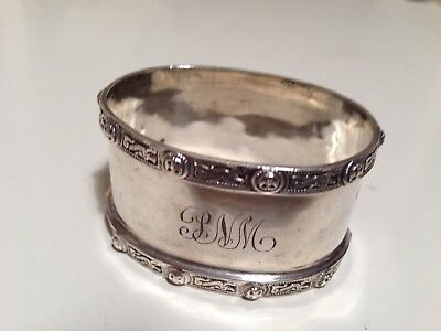 Solid Silver Oval Napkin Ring