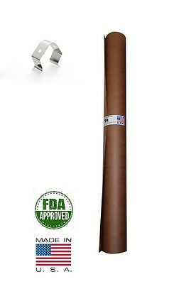 "36"" x 50' Pink/Peach Butcher Paper Roll Smoker Safe Aaron Franklin BBQ Style"