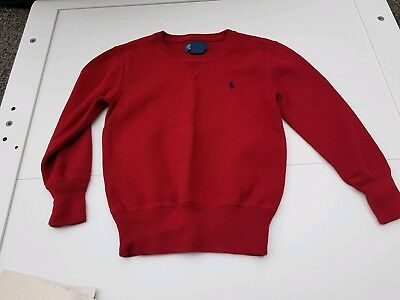 Polo Ralph Lauren boys red crew neck jumper age 5 years