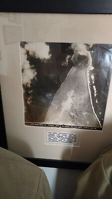 "WWII Imperial Japanese Professionally Framed Historical ""Iwo Jima"" Photograph."