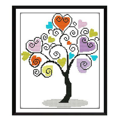 Cross Stitch Kits Embroidery Kit Stamped The Tree of Love 11CT 38x41cm