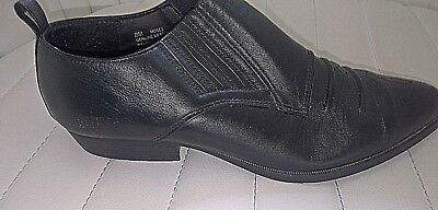 3ef074bd4b8 BRASS PLUM LEATHER Ankle Boots Size 8M -  10.99