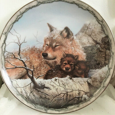"Bradford Exchange Wolves Sheltering Love Collection ""Safe and Sound"""