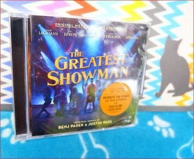 GREATEST SHOWMAN New Sealed Fast Freepost CD Soundtrack Rewrite Stars This is me