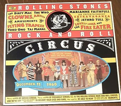 The Rolling Stones Rock And Roll Circus Laser Disc LD NM