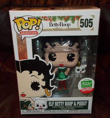 Funko Pop! ANIMATION: BETTY BOOP: ELF BETTY BOOP & PUDGY #505 LIMITED EDITION