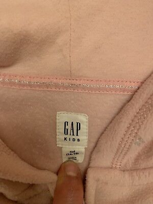 GAP girls Grey Zip Up Hooded Cardigan XL (size 14-16Years)