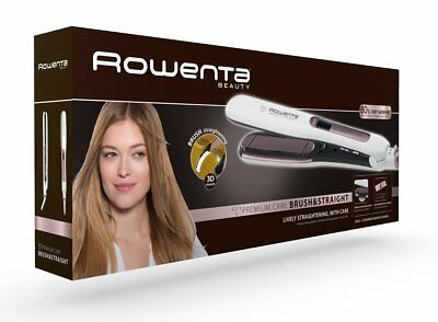 Rowenta Premium Care Brush & Straight SF7510F0 Plancha de pelo con cepillo
