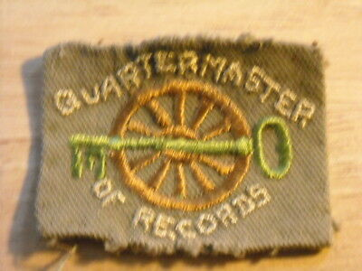 "Real Old ""quartermaster Of The Records"" Patch"