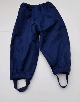 Jojo Maman Bebe blue pack away waterproof trousers age 18-24 months