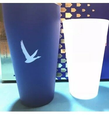 """Grey Goose Vodka Collectible Stainless & Glass Cocktail Shaker NEW 11""""H"""