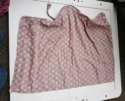 Palm & Pond pink spotted breastfeeding nursing cover up with boned neckline