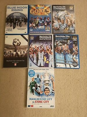Manchester City Job Lot of DVDs Mcfc seven in total