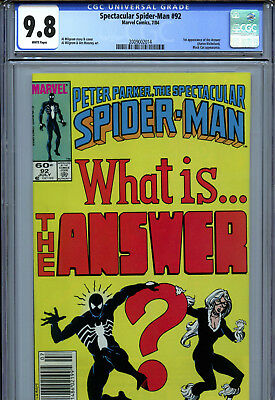 Spectacular Spider-Man #92 (1984) Marvel CGC 9.8 White Pages 1st App. The Answer