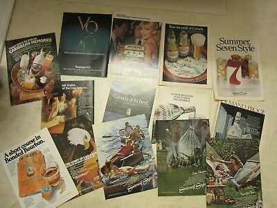 vintage alcohol SMIRNOFF Eagle Rare rum liquor print ad playboy magazine LOT 79