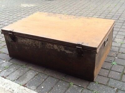 Metal Travel Chest Antique