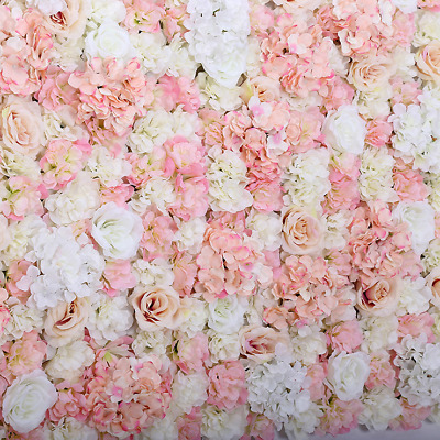 15xARTIFICIAL FLOWER ROSEHYDRANGEA WALL PANEL WEDDING BACKGROUND BACKDROP