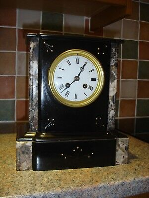 Victorian French 8 day mantle clock