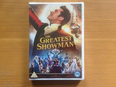 THE GREATEST SHOWMAN DVD watched once excellent condition( 2018)