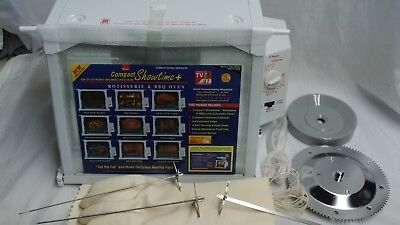 Brand New Ronco Compact Showtime Rotisserie & BBQ Oven 3000 White & Accessories