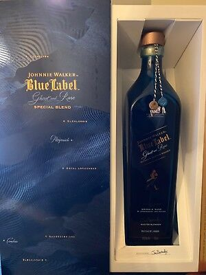 Johnnie Walker Blue Label Ghost and Rare Box and Bottle [No Alcohol]