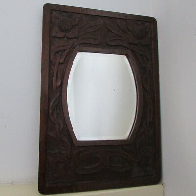 small Arts and Crafts mirror stylised wood frame