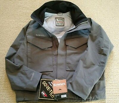 Simms Guide Jacket - Color Iron - S:Large - New. Gore-Tex. Wading Jacket