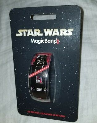 NEW Disney Parks Star Wars Darth Vader Red Magic Band 2 Link Later