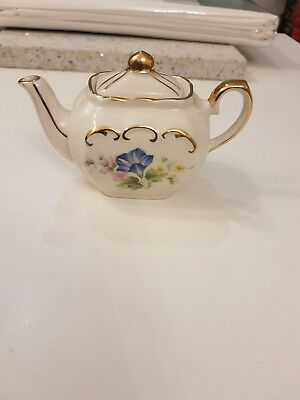 vintage miniature sadler teapot floral design no damage