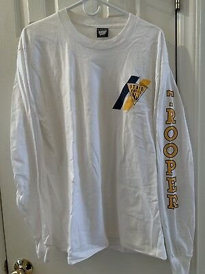 NJSP New Jersey State Police Trooper Cop Long Sleeve White Shirt Men Size XL NEW
