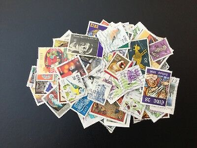 Ireland .  Approximately 100 Different Irish Stamps. All Different.  Fine Used