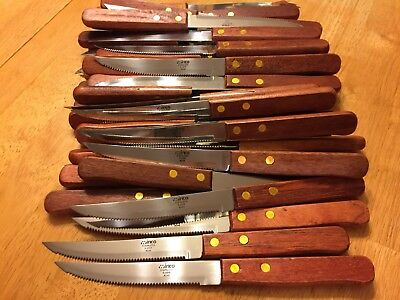 Lot Of 12 Winco Steak Knives - Serrated Edge ~ Used Just Once for Wedding Venue!