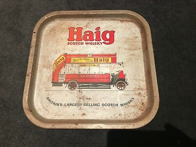 'Haig Scotch Whiskey' Beer / Drinks Tray- 1960's-1970's