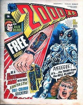2000AD PROG 2 1st Judge Dredd Appearance. Comic Issue is in Excellent Condition