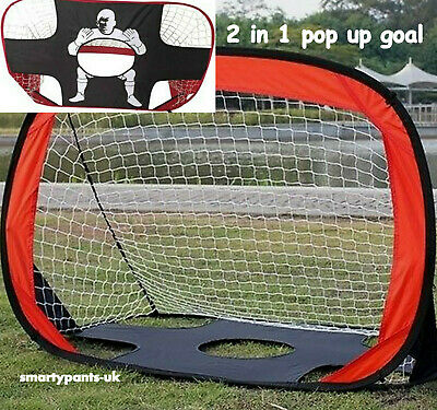 Kids Pop Up Goal And Football Target Practice Net  2 in 1 Pop Up Goal BRAND NEW