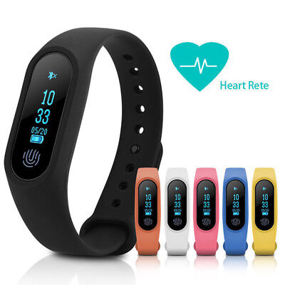 Smart Band Heart Rate Wristband Watch Bracelet Fitness Tracker Sleep Monitor KW