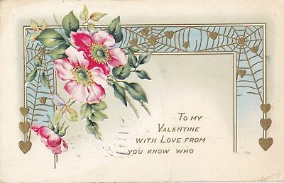 Cpa Gauffree To My Valentine With Love From You Know Who 1918