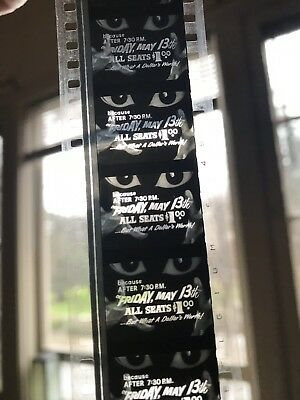 """35mm Ultra RARE """"FRIDAY THE 13th DOUBLE FEATURE """"SPOOK SHOW / HORROR Trailer!"""