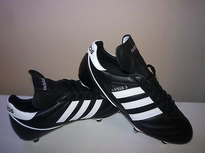 Adidas Kaiser 5 Five Cup Soft Ground Football Boots Black & White Size 9.5 UK
